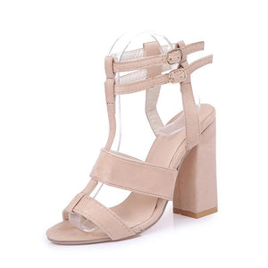 Square Heel  Stylish Ankle Strap Sandals