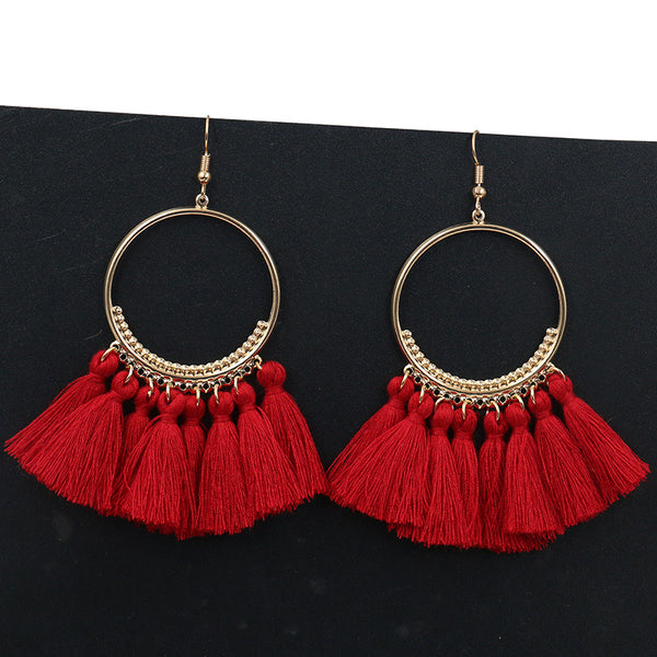 Handmade Statement Tassel Earrings