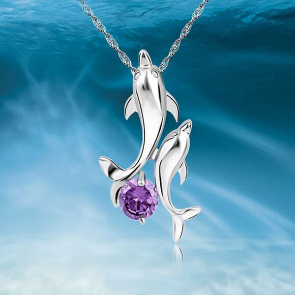 Cute 2 Dolphins Necklace