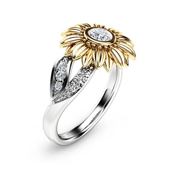 Cute Sunflower Charms Rings