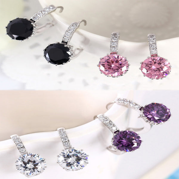 Korean CZ Hoop Earrings