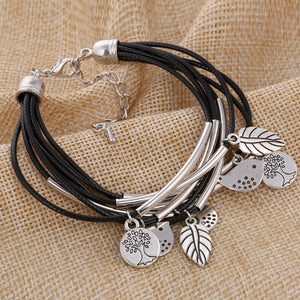 Handmade Leather Charm Bracelet