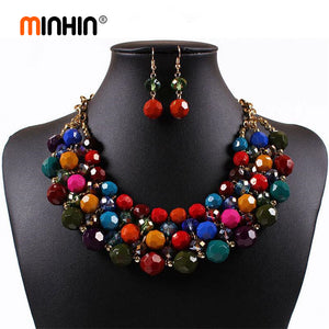 Quality Colorful Bead Choker Set