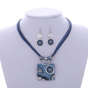 Multi Layers Wax Rope Jewelry Set