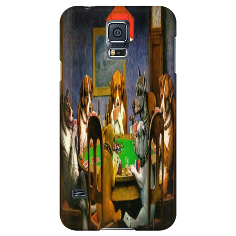 Dogs playing poker Phone Case iphone And Samsung Galaxy