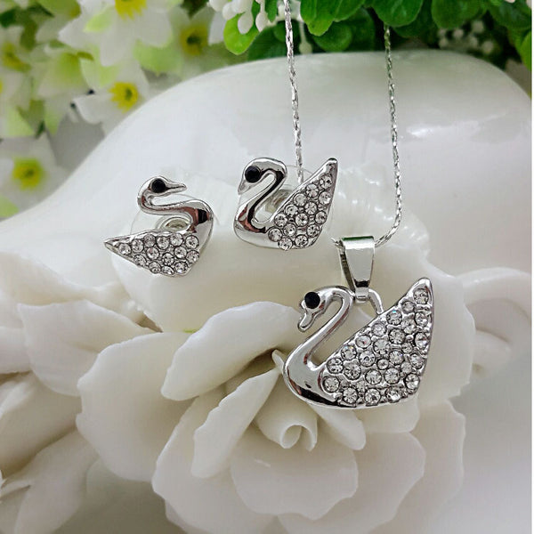 Crystal Swan Set