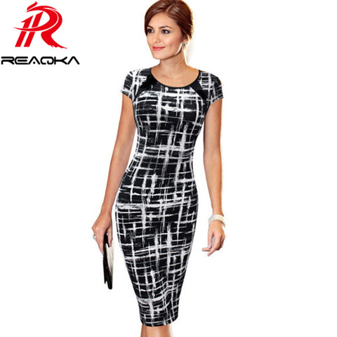 Slim Geometric Dress