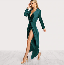 Satin Front Sexy Party Dress