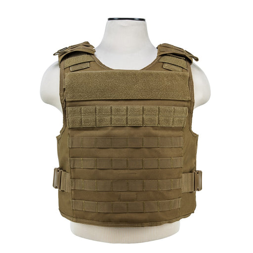 VISM by NcSTAR CVPCVEP2984T PLATE CARRIER WITH EXTERNAL HARD PLATE POCKETS [MED-2XL] - TAN