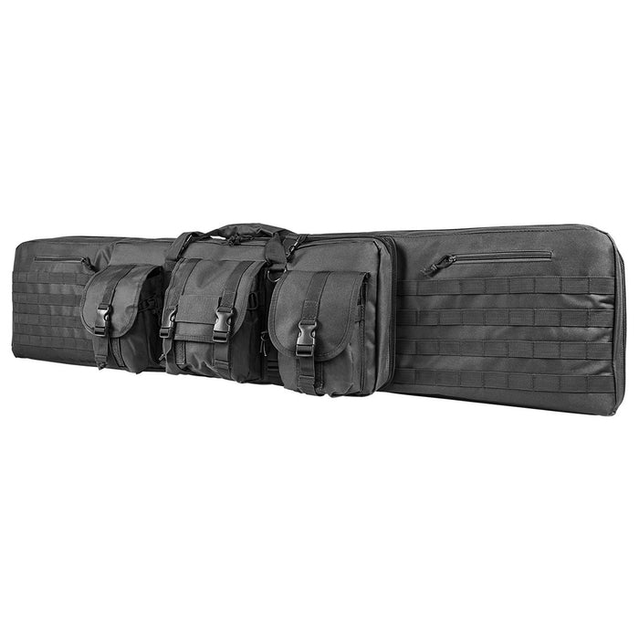 "VISM by NcSTAR CVDC2946U-55 DELUXE DOUBLE RIFLE CASE (55""L X 13""H)/ URBAN GRAY"