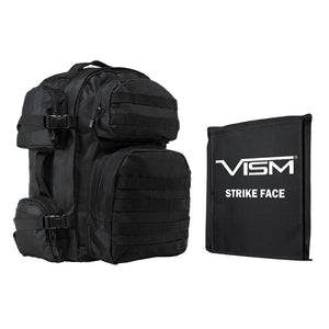 "LEVEL IIIA VISM by NcSTAR BSCBB2911-A TACTICAL BACKPACK WITH 10""x12"" LEVEL IIIA SOFT BALLISTIC PANEL/ BLACK"