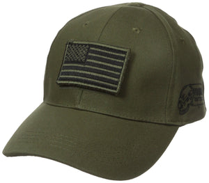 Voodoo Tactical 20-935104000  Cap With Removable Flag Patch Green