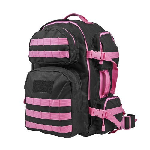 VISM by NcSTAR CBPK2911 TACTICAL BACKPACK/ BLACK w/PINK TRIM