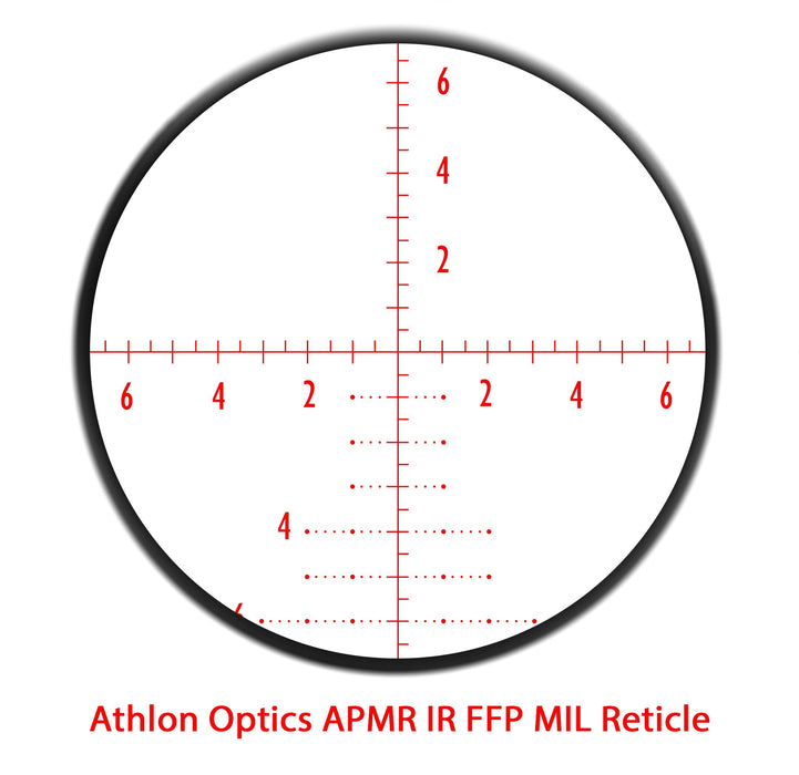 Athlon Optics Argos BTR 6-24 x 50 First Focal Plane (FFP) 30 mm Tube Illuminated APMR MIL Reticle 214061 FREE SHIPPING
