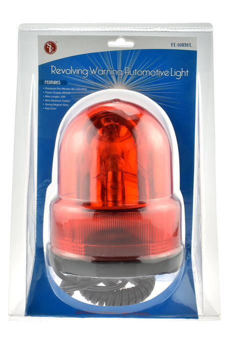 SE FL-10RWL Revolving Warning Automotive Light, Red