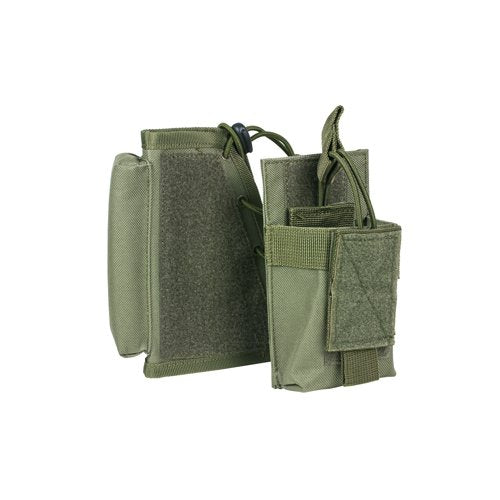 VISM by NcSTAR CVSRMP2925G STOCK RISER WITH MAG POUCH/GREEN