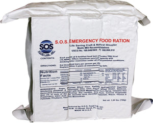 SOS Food Labs Rations Emergency 3600 Calorie Food Bar - 3 Day / 72 Hour Package with 5 Year Shelf Life- 4 Packs
