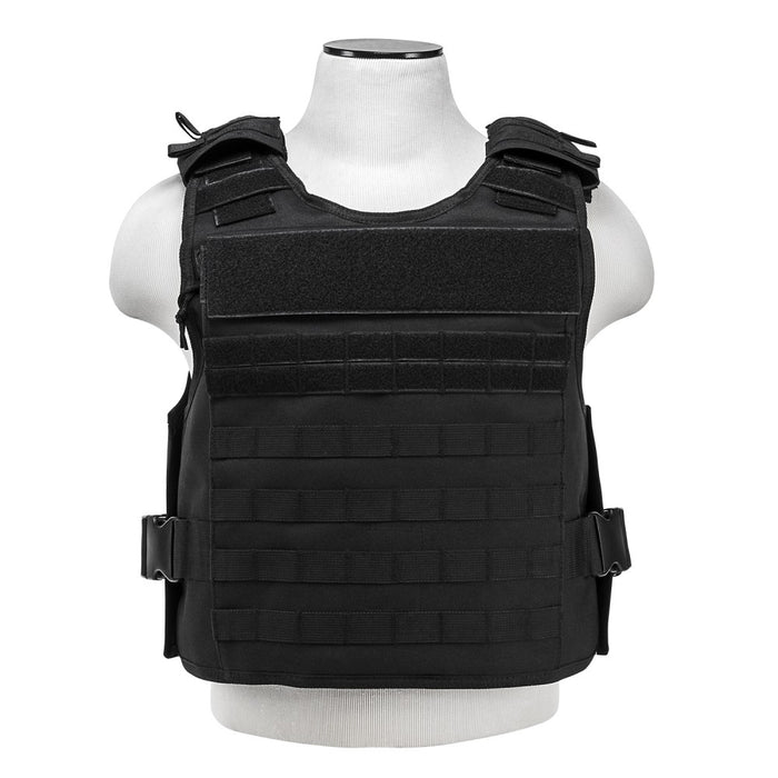 VISM by NcSTAR CVPCVEP2984B PLATE CARRIER WITH EXTERNAL HARD PLATE POCKETS [MED-2XL] - BLACK