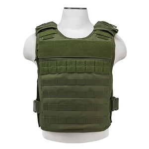 VISM by NcSTAR CVPCVEP2984G PLATE CARRIER WITH EXTERNAL HARD PLATE POCKETS [MED-2XL] - GREEN