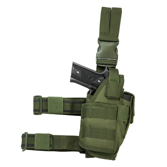 VISM by NcSTAR CVDLHOL2955G DROP LEG TACTICAL HOLSTER/ GREEN