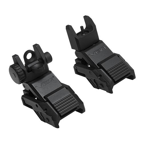 VISM by NcSTAR VMARFLC PRO SERIES FLIP-UP FRONT AND REAR SIGHTS (COMBO)
