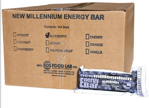 SOS Food Labs SOS-BLUEBERRY-144 Millennium Bars 400-Calorie Blueberry Case