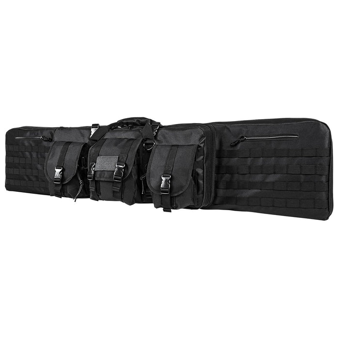 "VISM by NcSTAR CVDC2946B-55 DELUXE DOUBLE RIFLE CASE (55""L X 13""H)/ BLACK"