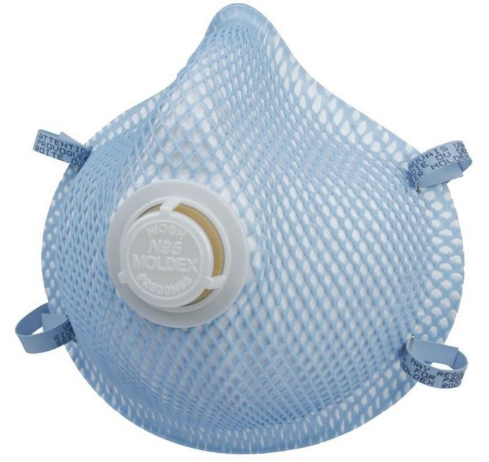 Moldex 2300N95 Respirator with Valve 10 Pack NIOSH Rating N95