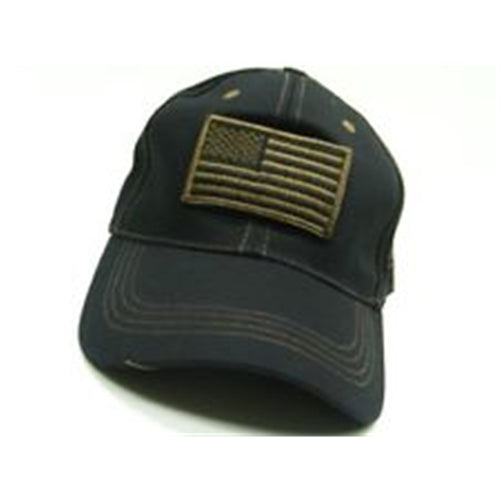 Voodoo Tactical 20-9352112000 Cap with Removable Flag Patch Black/HiVis Green