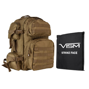 "LEVEL IIIA VISM by NcSTAR BSCBT2911-A TACTICAL BACKPACK WITH 10""x12"" LEVEL IIIA SOFT BALLISTIC PANEL/ TAN"