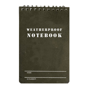 "Fox Tactical Military Style Weatherproof Notebook (4"" x 6"")"