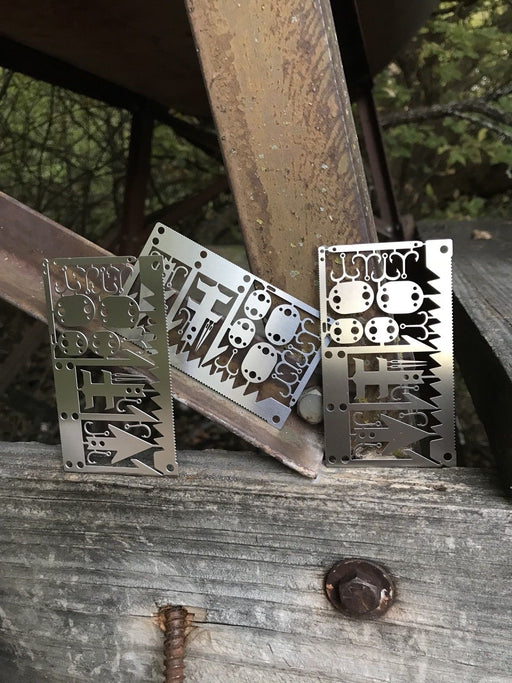 3 BEST Multi Tool Card survival Wallet sized Camping Hiking Emergency Kit EDC
