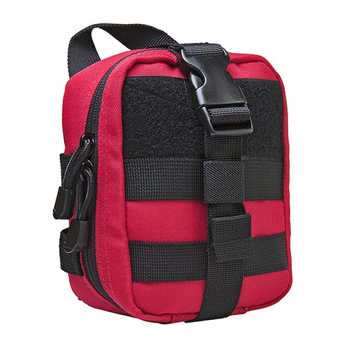 VISM by NcSTAR CVSEMT2988R SMALL MOLLE EMT POUCH/ RED WITH BLACK TRIM