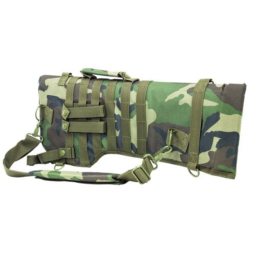 VISM by NcSTAR CVRSCB2919WC TACTICAL RIFLE SCABBARD/WOODLAND CAMO