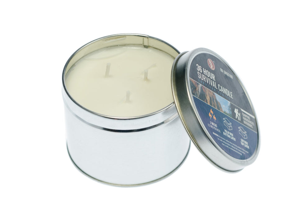 SE OD-3WSC100 3-Wick 36-Hour Emergency 3 Wick Candle Soy Way in Tin Box