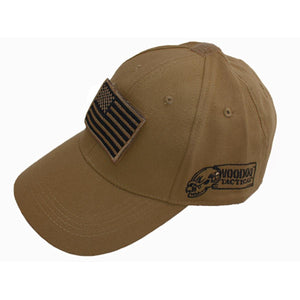 VooDoo Tactical 20-935107000 Cap With Removable Flag Patch Coyote