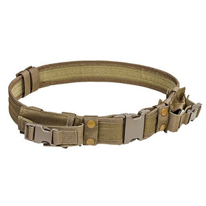 "VISM by NcSTAR CVBLT2978T 2"" TATICAL BELT WITH TWO POUCHES/ TAN"
