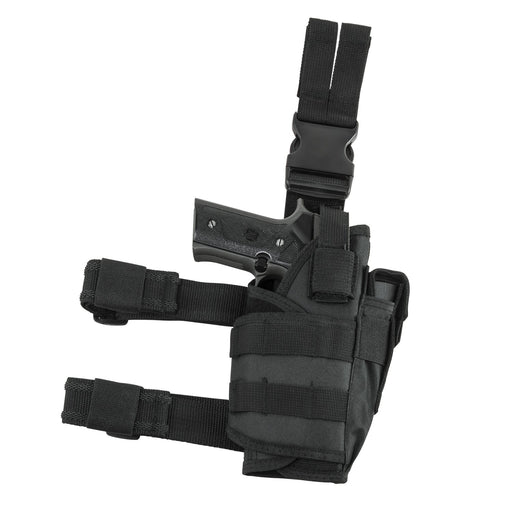VISM by NcSTAR CVDLHOL2955B DROP LEG TACTICAL HOLSTER/BLACK