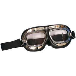 Fox Tactical Royal Air Force Style Goggles Chrome