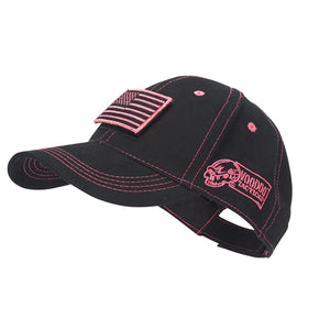 Voodoo Tactical  20-9352088000  Cap with Removable Flag Patch Black/Pink
