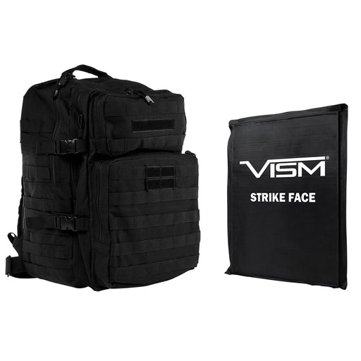 "LEVEL IIIA VISM by NcSTAR BSCBAB2974-A ASSAULT BACKPACK WITH 11""x14"" LEVEL IIIA SOFT BALLISTIC PANEL/ BLACK"