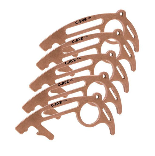 CuRVE® Shield The Ultimate No Touch Tool 100% Copper Door Pusher Door Puller CleanKey Clean Key Hygiene Tool Five 5 Pack