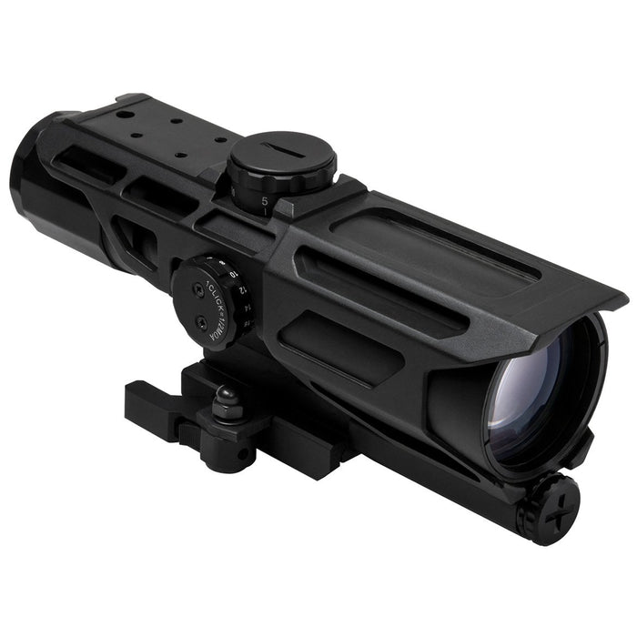 VISM by NcSTAR VSTP3940GV3 GEN3 MARK III TACTICAL 3-9X40 SCOPE/ AA BATTERY/ LOCKING QUICK RELEASE MOUNT/ P4 SNIPER/ BLACK