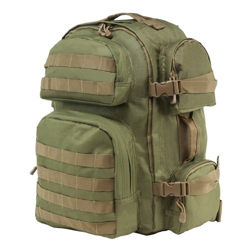 VISM by NcSTAR CBGT2911 TACTICAL BACKPACK/OD GREEN WITH TAN TRIM