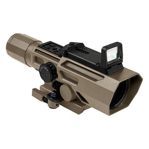 VISM by NcSTAR VADOTP3942G ADO 3-9X42 SCOPE /WITH FLIP UP RED DOT OPTIC/ LOCKING QUICK RELEASE MOUNT/ TAN