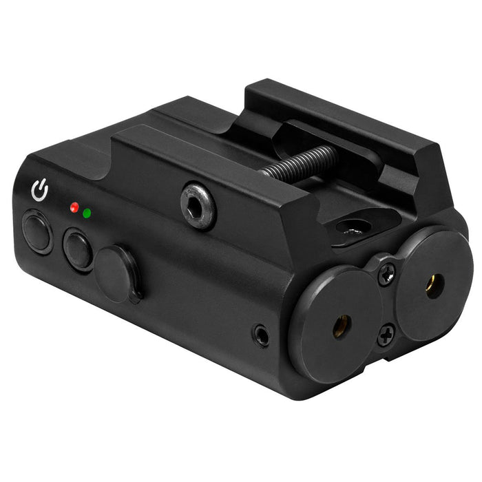 NcSTAR APXLRGB DESIGNATOR BOX WITH GREEN AND RED LASER/ RAIL MOUNT/ REMOTE PRESSURE SWITCH/ BLACK