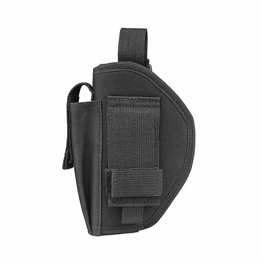 VISM by NcSTAR BELT HOLSTER WITH MAG POUCH/ RIGHT HAND/ FULL TO SUB-COMPACT SEMI AUTO SIZE/ BLACK
