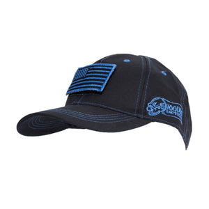 Voodoo Tactical 20-9352136000 Cap with Removable Flag Patch Black/Blue