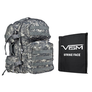 "LEVEL IIIA VISM by NcSTAR BSCBD2911-A TACTICAL BACKPACK WITH 10""x12"" LEVEL IIIA SOFT BALLISTIC PANEL/ DIGITAL CAMO"