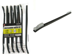 SE 10 Pc Double Ended Nylon Bristol Gun Cleaning Brush Set 7615NB10PCS